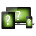 Tablet pc and mobile phone Royalty Free Stock Image