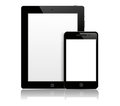 Tablet pc with phone Royalty Free Stock Photo