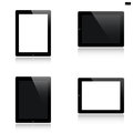Tablet set isolated on white