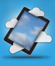 Tablet with sky Stock Photography