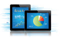 Tablet Statistics Royalty Free Stock Image