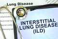 Tablet with word  Interstitial lung disease (ILD) Royalty Free Stock Photo