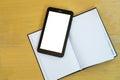 Tableta sobre orden del día Imagen de archivo libre de regalías