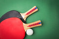 Tabletennis racket and ball Royalty Free Stock Photo