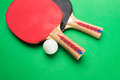 Tabletennis rackets Royalty Free Stock Photo