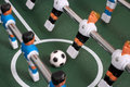 Tabletop soccer, team Royalty Free Stock Images