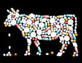 Tablets pills cow and capsules that shape a Royalty Free Stock Image