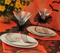 Tableware Halloween Stock Images