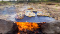 Tabun a traditional way of making daruze pita bread Royalty Free Stock Photo