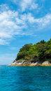 Tachai island in andaman with crystal clear sea sunny day Royalty Free Stock Photos