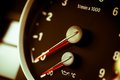 Tachometer detail with the of a sports car Royalty Free Stock Photos