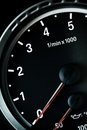 Tachometer detail with the of a sports car Stock Photo