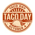 Taco Day, October 4 Royalty Free Stock Photo
