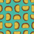 Taco drawing background. Mexican fast food pattern. Food from me