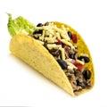 Taco Isolated on White Background Royalty Free Stock Photo