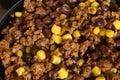Taco mix - beef, beans & corn Stock Photo