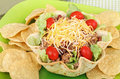 Taco Salad and Chips Stock Photography