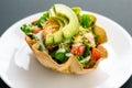 Taco tortilla salad Royalty Free Stock Photo