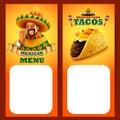 Tacos mexican MENU Royalty Free Stock Photo