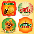 Tacos mexican STICKERS Royalty Free Stock Photo