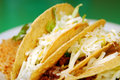 Tacos with refried beans Royalty Free Stock Photography