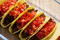 Tacos with tomatoes Royalty Free Stock Photo