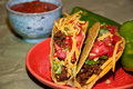 Tacos two served for dinner Stock Photos