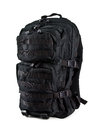 Tactical backpack isolated on white background black Stock Photography