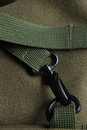 Tactical holdall army bag black metal clasp detail of a showing canvas and a strong Stock Photography