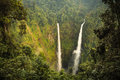 Tad fane waterfall view of champasak laos Stock Photo