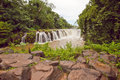 Tad pha souam the beautiful waterfall Stock Images