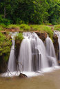 The tad pha souam waterfall laos bajeng national park paksa south Stock Photo