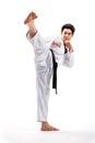 Taekwondo action Royalty Free Stock Photo
