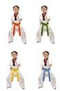 Taekwondo boy Royalty Free Stock Photo