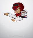 Taekwondo martial art vector and illustration Royalty Free Stock Photography
