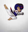 Taekwondo martial art vector and illustration Royalty Free Stock Images