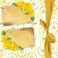 Tafel rose ribbons Lizenzfreie Stockfotos
