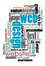 Tag cloud for web and internet design content eps vector illustration Royalty Free Stock Images