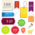 Tag - label collection Royalty Free Stock Photo