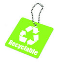 Tag with recyclable symbol Royalty Free Stock Photo