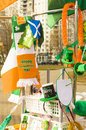 Tag st patricks in moskau Stockfoto