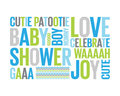A Tagcloud: baby shower for a boy Royalty Free Stock Images