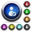 Tagging user round glossy buttons Royalty Free Stock Photo