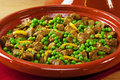 Tagine of Beef with Peas and Preserved Lemon Stock Image