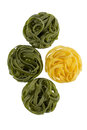 Tagliatelle in two colours Stock Image