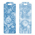 Tags or bookmarks with blue retro pattern Royalty Free Stock Photo