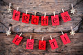 Tags with frohes fest red hanging on a line the german words which means merry christmas Royalty Free Stock Images