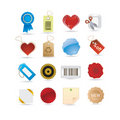 Tags icon set Royalty Free Stock Photo