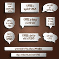 Tags, labels, buttons, stickers with message about coffee Royalty Free Stock Photo
