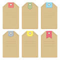 Tags set of carton with dotted patterns Royalty Free Stock Image